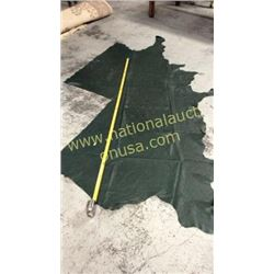 1 piece dark green leather
