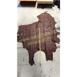 1 piece dark reddish brown leather
