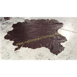 1 piece full hide dark brown