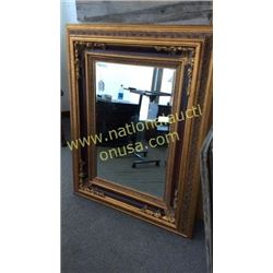 Large Carved and Beveled Mirror  43W x 54T