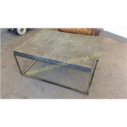 Century Shagreen Leather Top Cocktail Table  43W