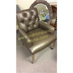 Maitland Smith Tacked and Leather Chair