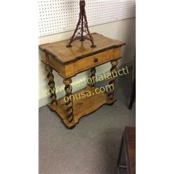 Carved Pine Lamp Table  27W x 29T x 17D