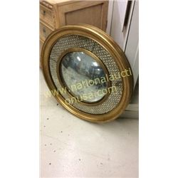 John Richard Antiqued 32in Oval Mirror