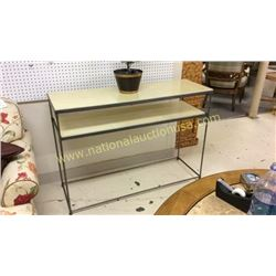 Century Sofa Table with Parchment Top  48W x 35T