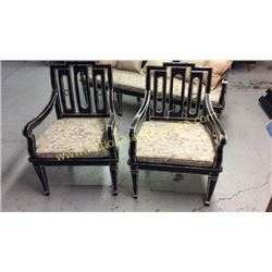 Pair Century Carved Chairs