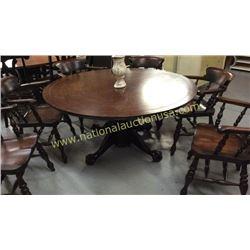 Century Round Pedestal Table  60 inch Round Top