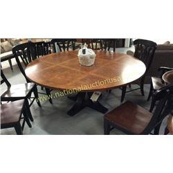 Century 70 inch Round Top Pedestal Table