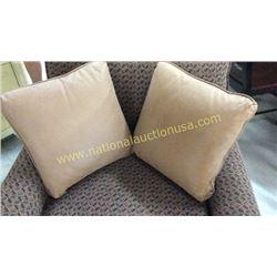 2 Leather Throw Pillows