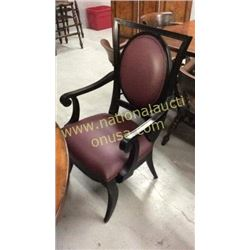 Century Leather Padded Arm Chair  4x