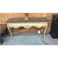 Century Marble Top Entry/Sofa Table  61W x 32T x