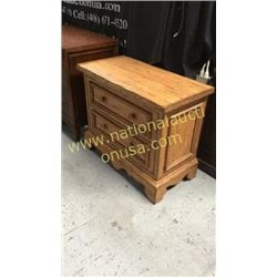 Century 2 Drawer Bed Side Chest  36W x 30T x 18D