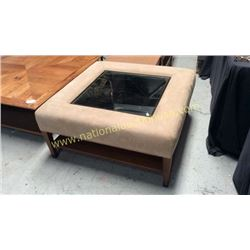 Century Padded Mirror Top Cocktail Table 40W x