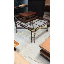 Highland House Iron Cocktail Table  43W x 23T x