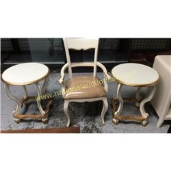 Ardley Hall Side Tables and Chair  Chair has
