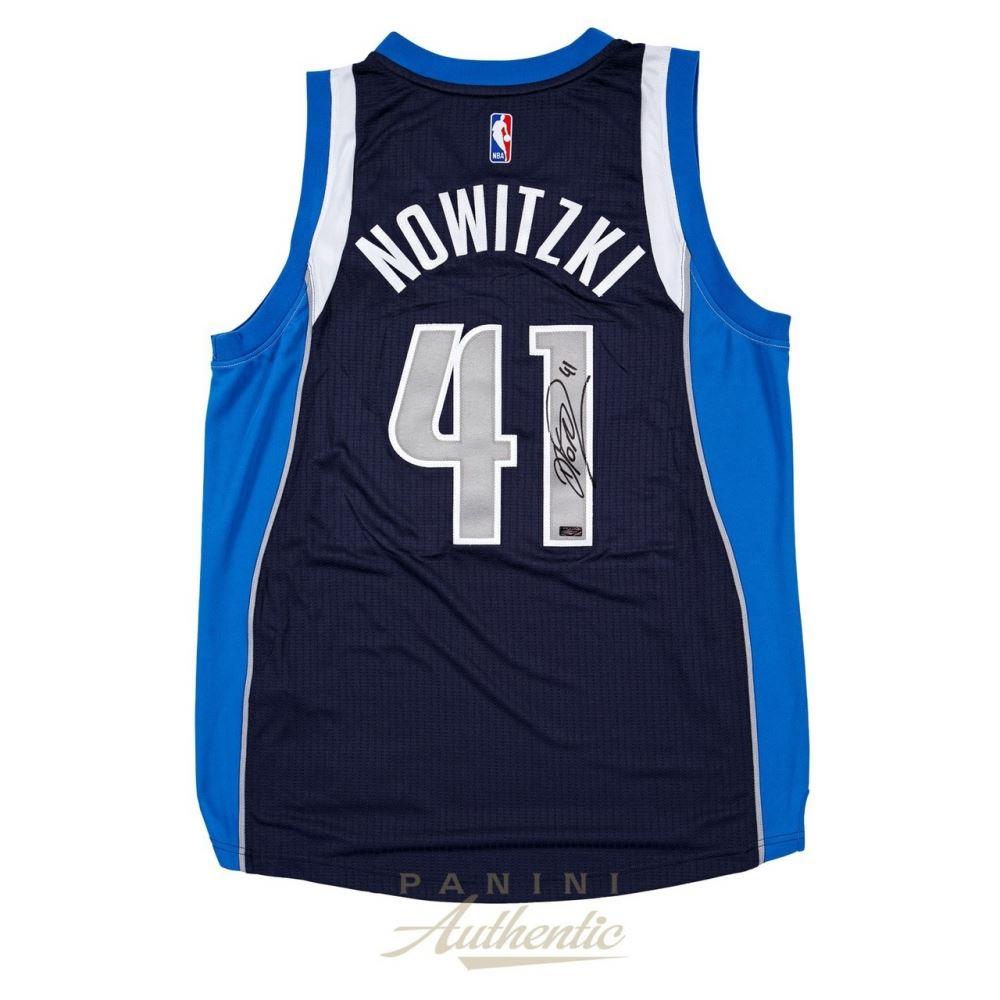 hot sale online 78a6c f99f1 Dirk Nowitzki Signed Mavericks 2014 Authentic Adidas ...