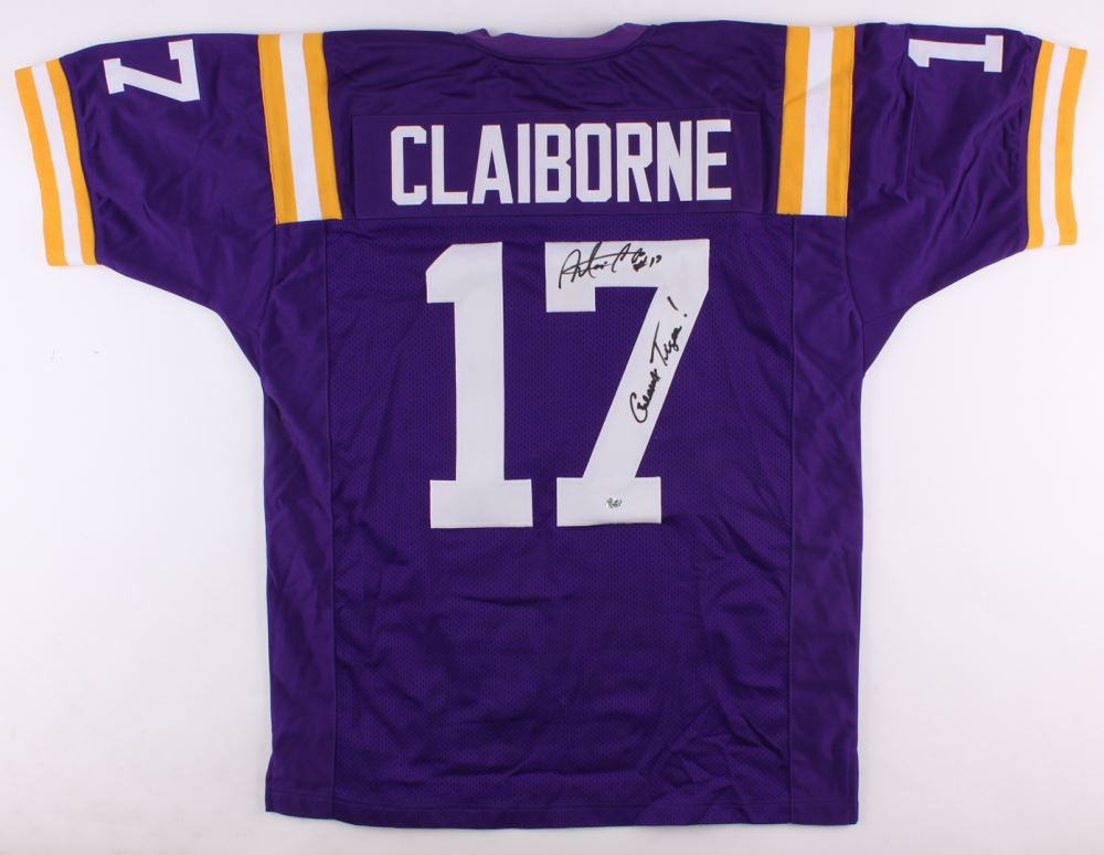 Morris Claiborne Signed LSU Tigers Jersey Inscribed
