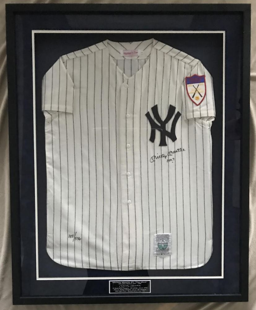 release date: 38a21 4e2e4 Mickey Mantle Signed LE Yankees 1951 Rookie Year Mitchell ...