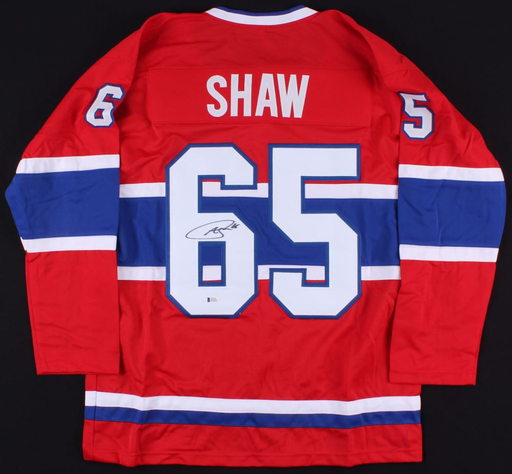 separation shoes 24410 e4db6 Andrew Shaw Signed Montreal Canadiens Jersey (Beckett ...