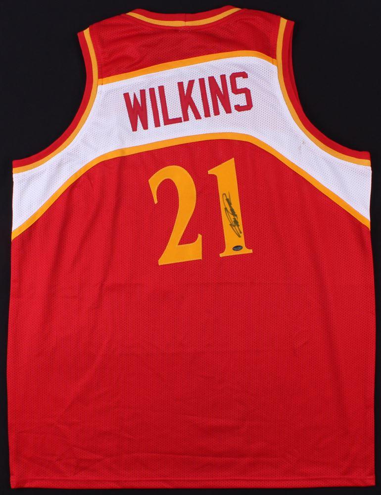 8a58de41a Image 1   Dominique Wilkins Signed Hawks Throwback Jersey (Schwartz COA)