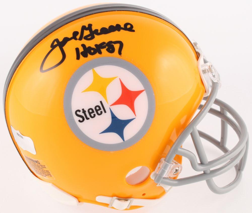 5d095afd285 Image 1 : Joe Greene Signed Steelers Throwback Mini Helmet Inscribed