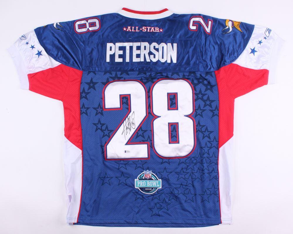 new arrival aca91 a91e9 Adrian Peterson Signed NFC Pro Bowl Jersey (Beckett COA)