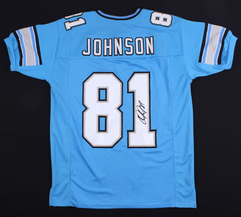 low priced 370ab 2b745 Calvin Johnson Signed Lions Jersey (JSA COA)