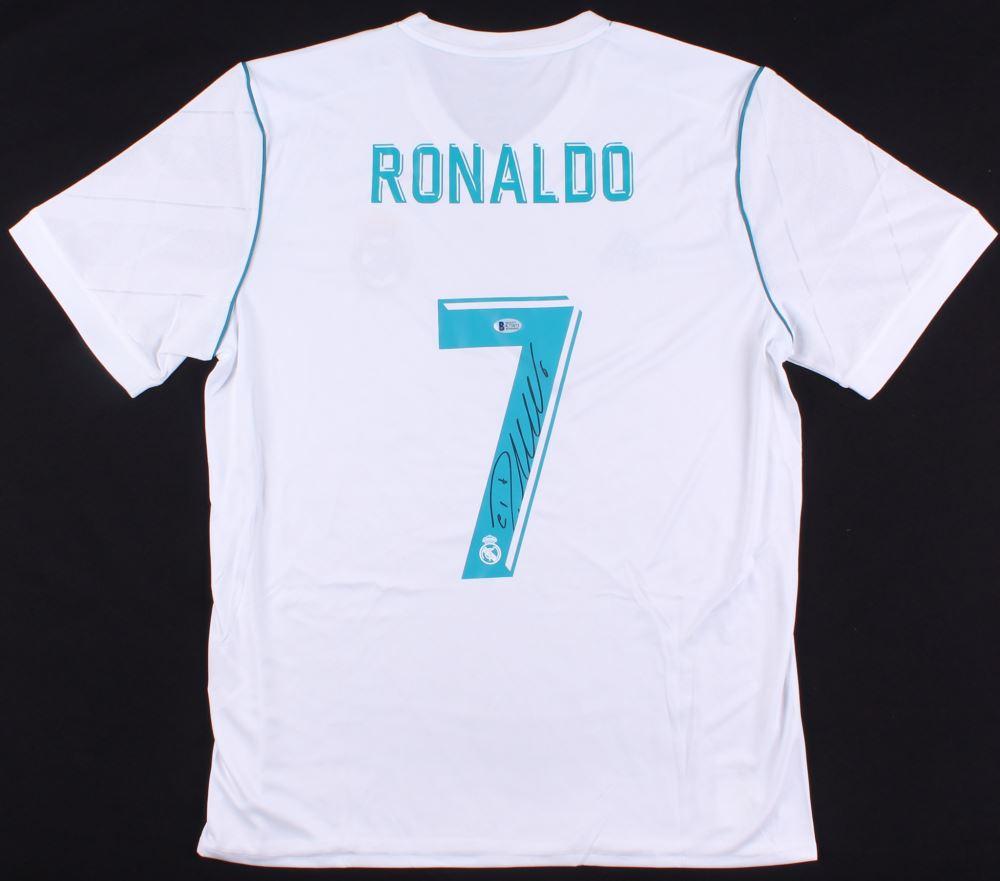 best website 70249 1306e Cristiano Ronaldo Signed Real Madrid Adidas Soccer Jersey ...