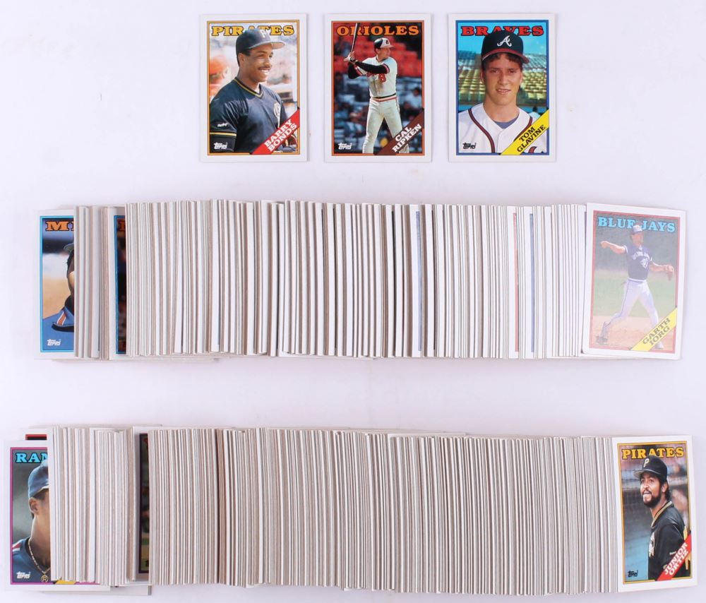 1988 Topps Complete Set Of 792 Baseball Cards With 450 Barry