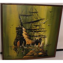 PAINTING OF PIRATE SHIP