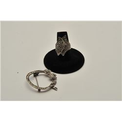 MARCASITE PIN & RING