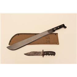ONTARIO KNIFE CO. MACHETE & FN KNIFE