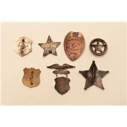 LOT OF 7 REPRO WESTERN BADGES