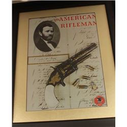 AMERICAN RIFLEMAN COVER FRAMED