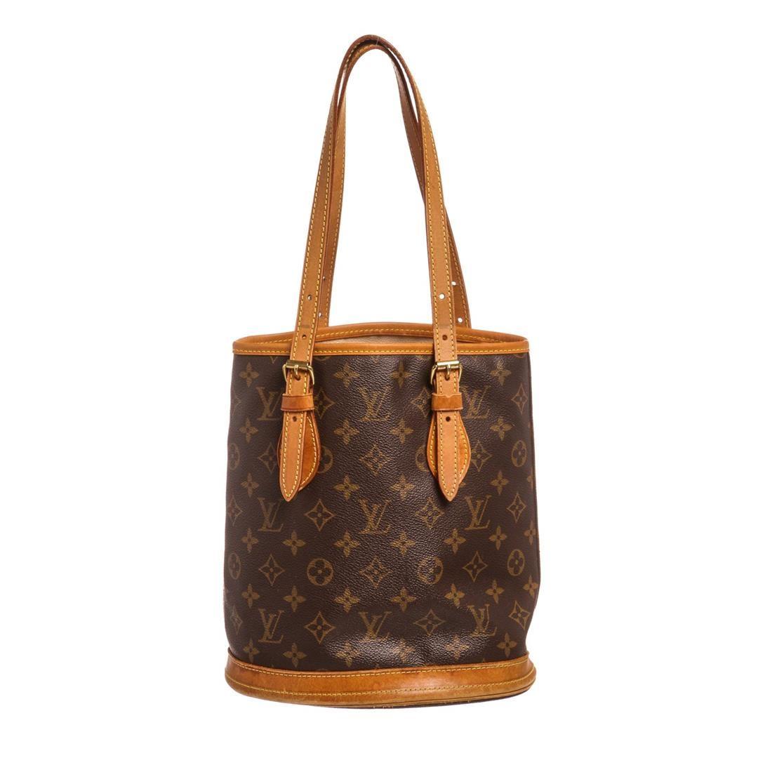 3d93a94b997 Image 1 : Louis Vuitton Monogram Canvas Leather Petit Bucket Bag ...
