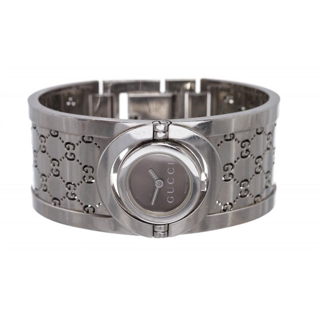 64397c83440 Image 1   Gucci Stainless Steel Twirl Collection Bangle Bracelet Watch ...