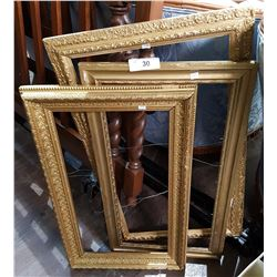 THREE VINTAGE GILT PICTURE FRAMES