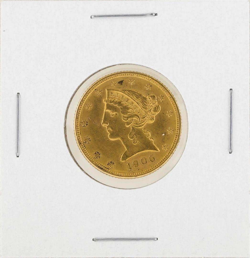 1906-D $5 Liberty Head Half Eagle Gold Coin