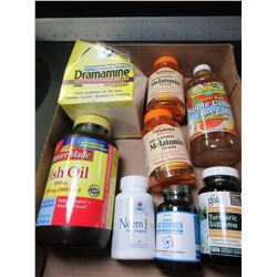 Flat of New Health Items / Meletonin / Fish Oil / Apple Cider Vinegar & more