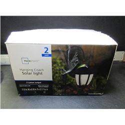 New Hanging Coach Solar Lights / set of 2 lights
