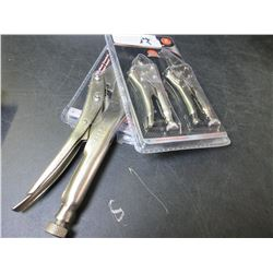 New 3 piece Vise grip set / 1 - 10 inch & 2 mini's