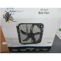 New 20 inch Box Fan with 3 speed settings / Tested working