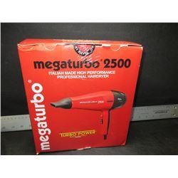 Mega Turbo 2500 Italian Made High Performance Pro Hair Dryer