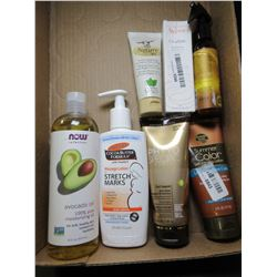 Flat of New Skin Creams and Oils