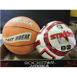 Basket Ball and Soccer Ball