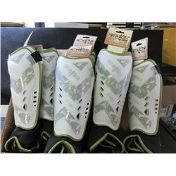 Lot of 7 Striker Euro Soccer Shin Guards ages 6 - 12