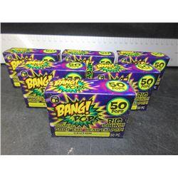 Lot of 6 packs of BANG POP'S / throw em drop em big bang sound / 50 per