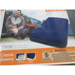 Intex Classic Downey twin Air Mattress / Excellent for a lake floatie or