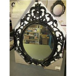 New Oval Mirror 19 x 24 black high gloss Frame