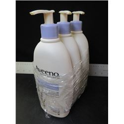 Lot of 3 New Aveeno Active Naturals / stress relief moisturizing lotion